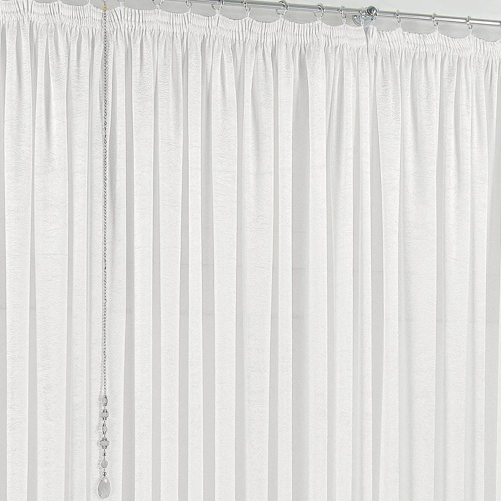 Cortina 4 metros Amore Branco Liso com 1 peças