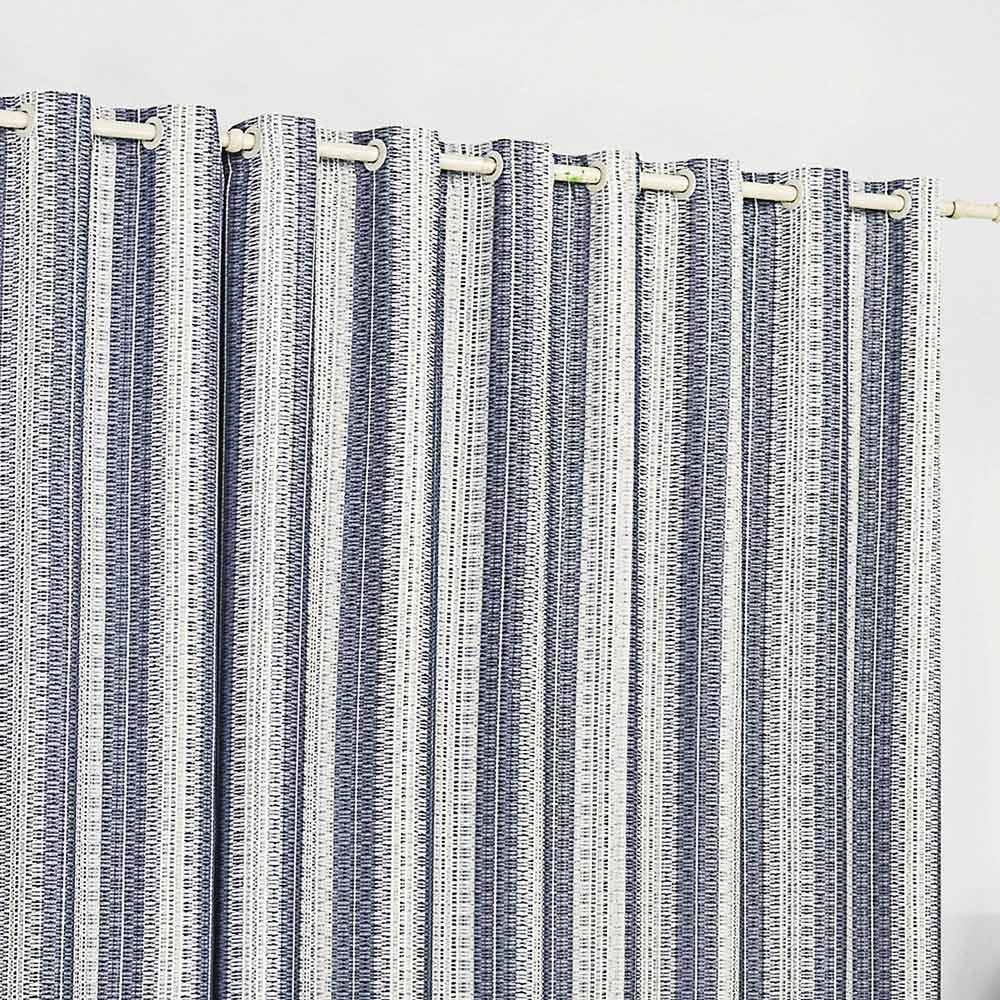 Cortina 4 metros Califórnia Azul Listras  com 1 peças