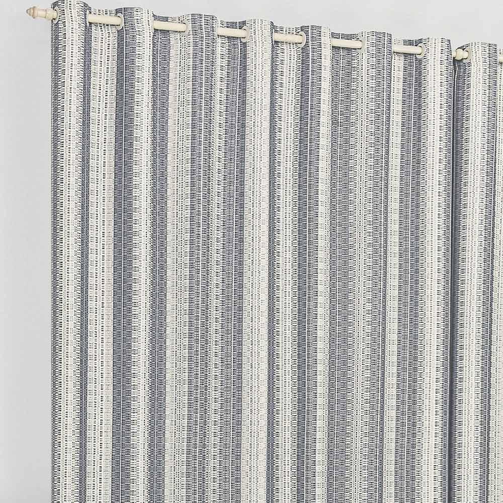 Cortina 4 metros Califórnia Cinza Listras  com 1 peças