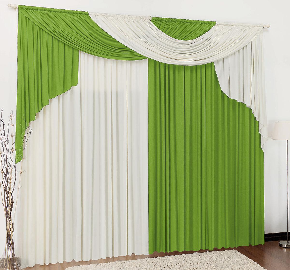 Cortina 4 metros Elegancy Verde  com 1 peças