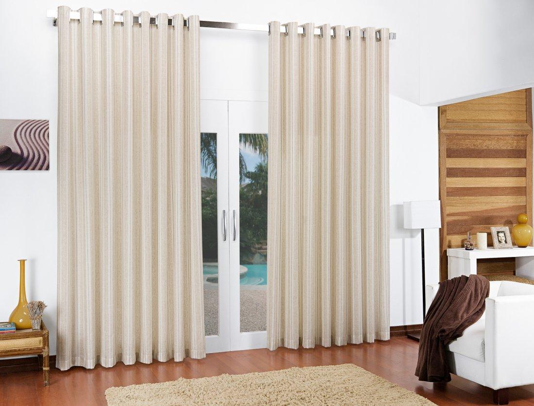 Cortina de sala alles na cor palha com 3 metros em algod o viscose e linho cortina alles - Cortinas de casa ...