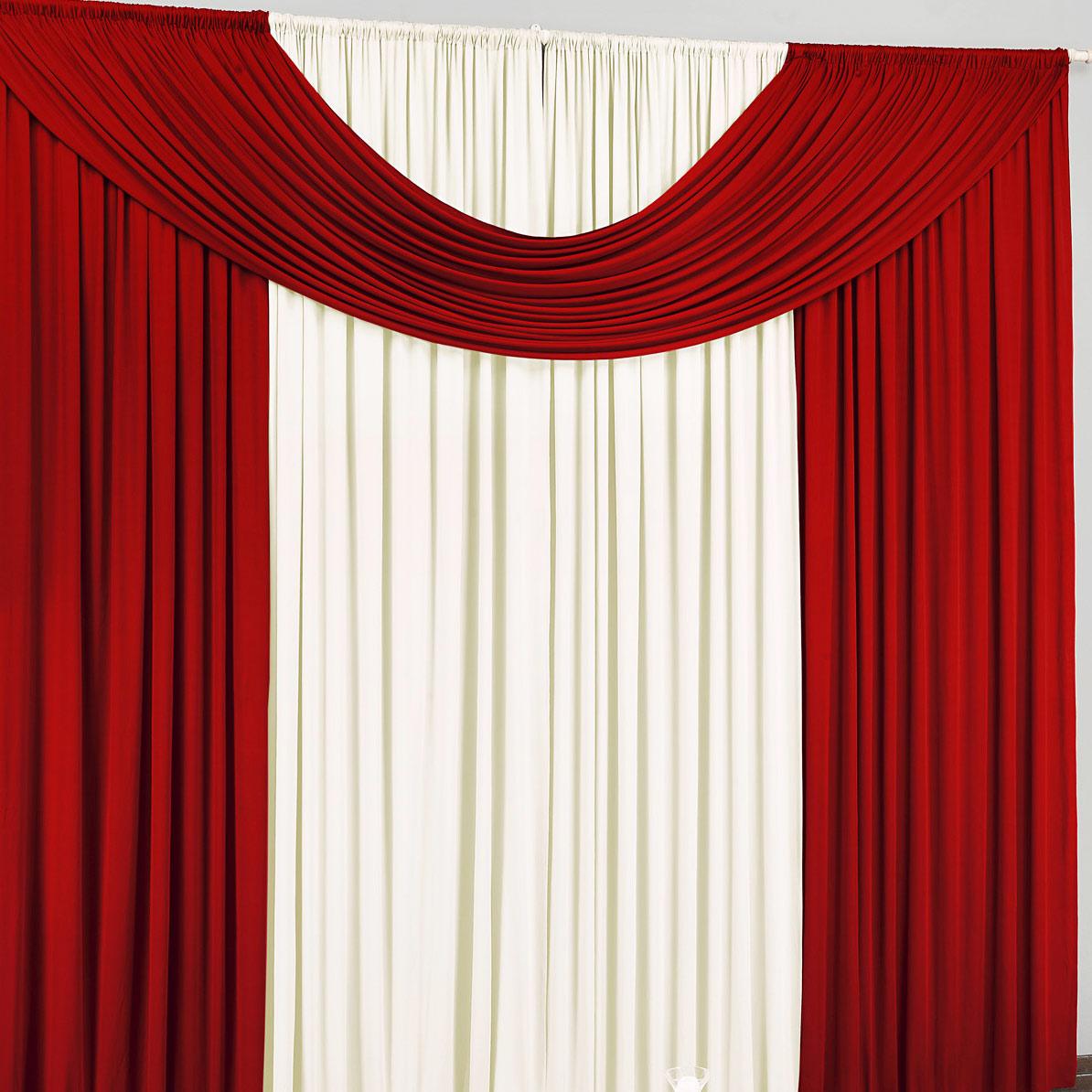Cortina de Sala ou Quarto 2 metros Palha / Vermelho com 1 peças tecido Malha - Cortina Cristal