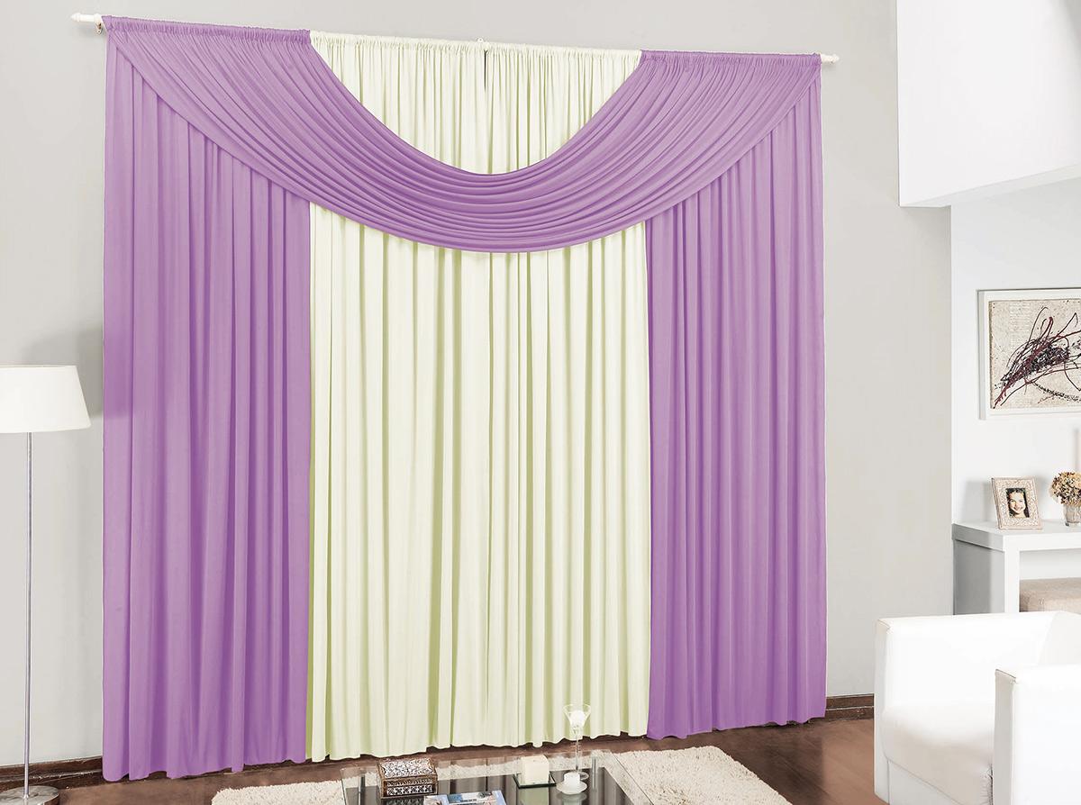 Cortina para sala e quarto lil s e palha 3 metros em malha for Ganchos para cortinas de madera