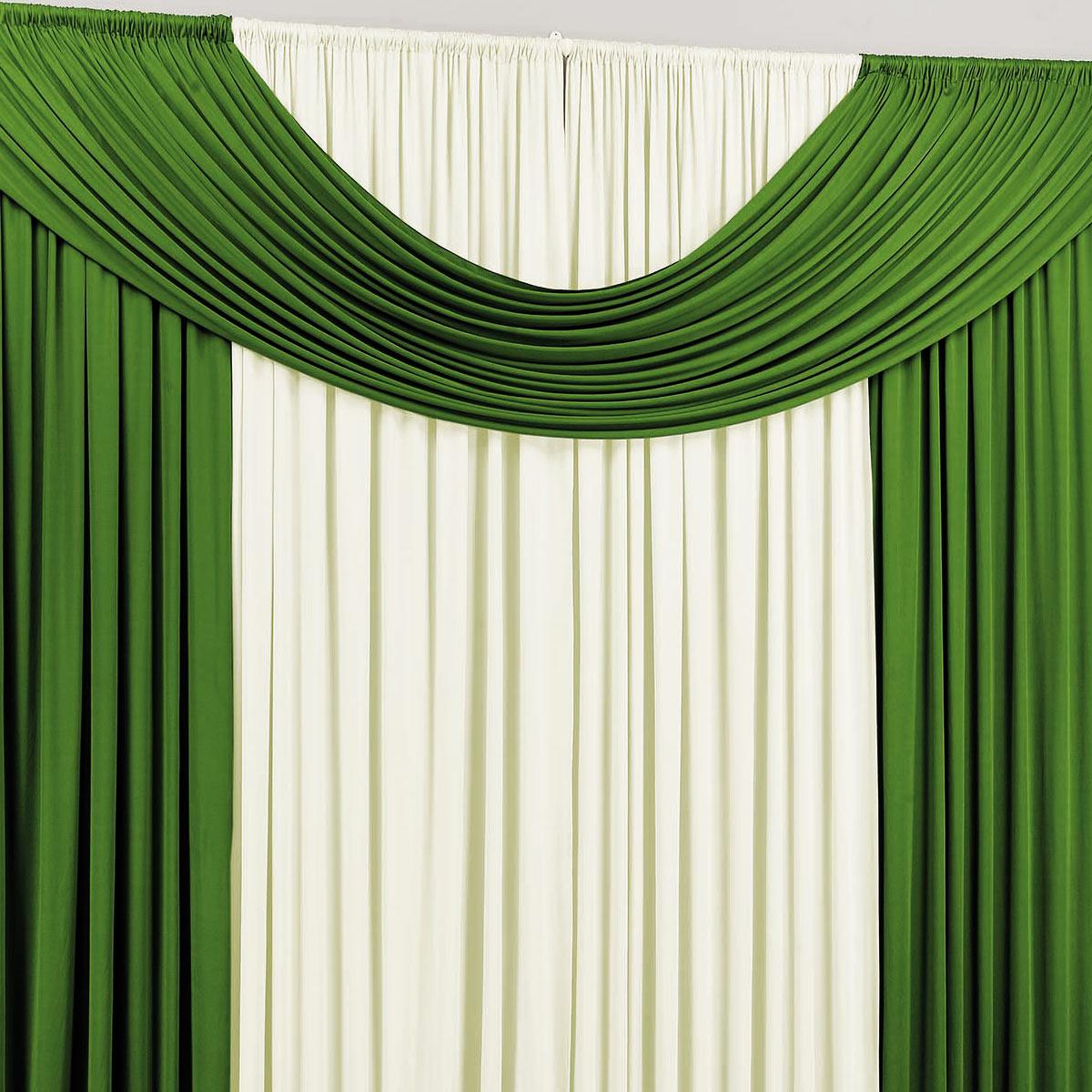 Cortina para Sala e Quarto Verde e Palha 4 metros em Malha varão Simples - Cortina Cristal