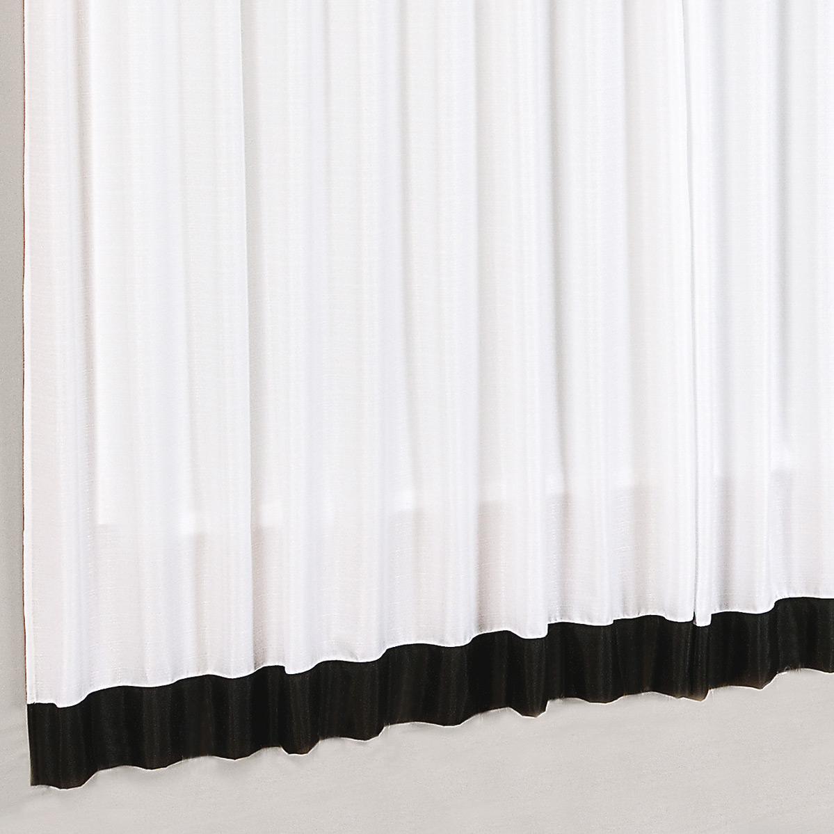 Cortina sala e quarto branco e preto tecido capri para for Cortinas de plastico para exteriores