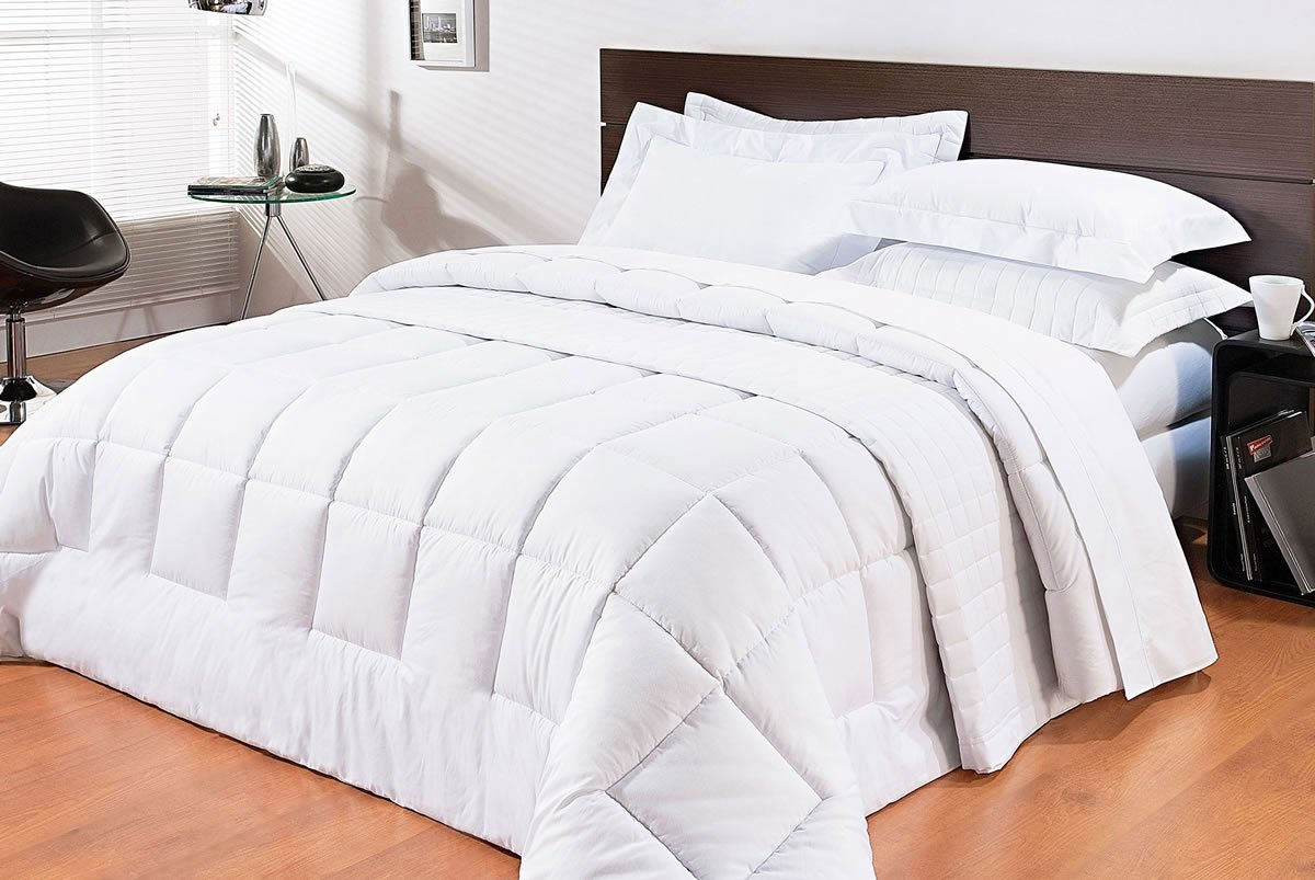 Edredom de cama cama super king size branco percal 200 for Medidas cama king y super king