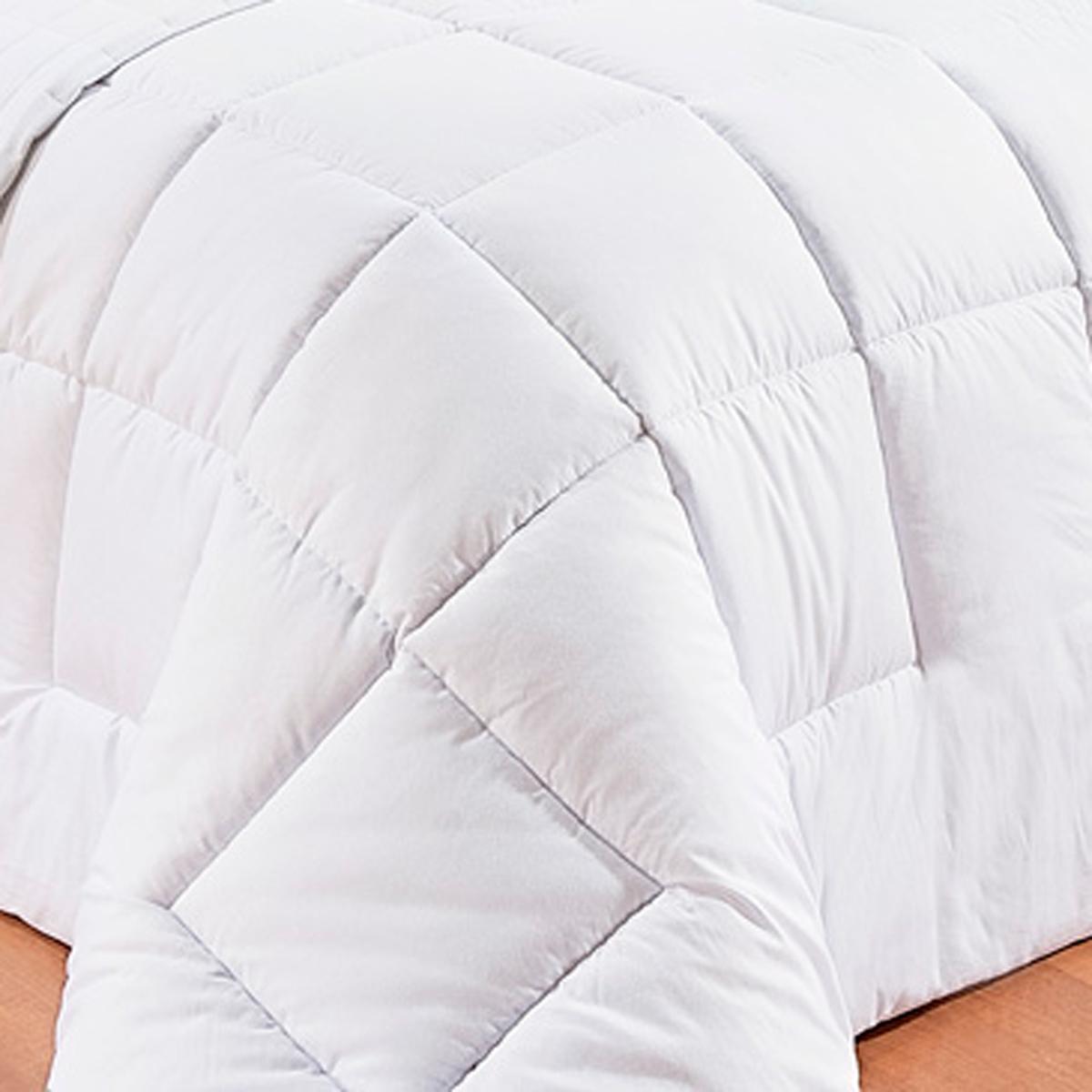 Edredom de Cama Cama Super King Size Branco Percal 200 fios - Edredom Pratic