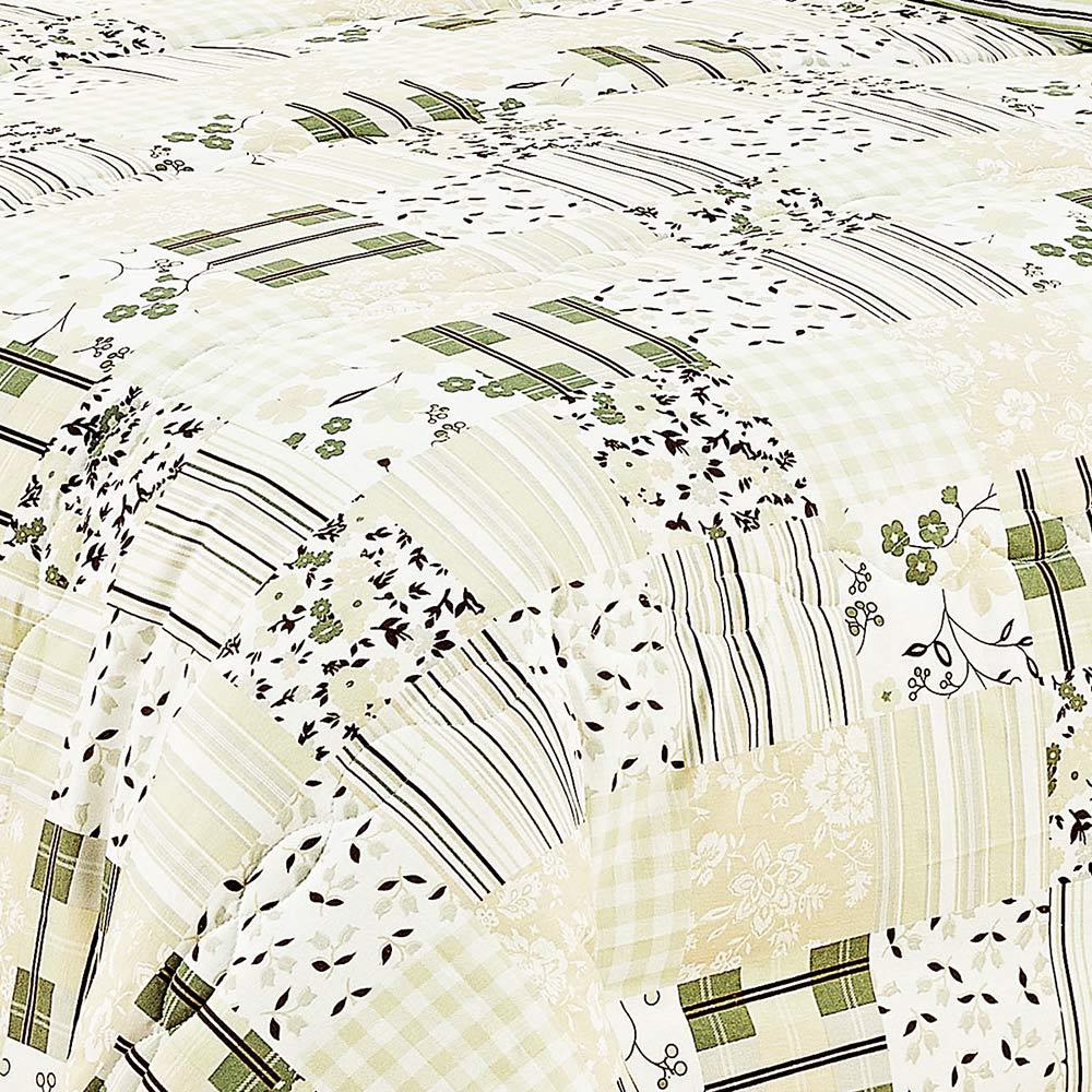 Edredon Queen Combinatto Verde Patwork com 1 peças