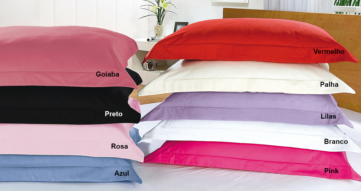 Fronha Travesseirão 1,50m x 50cm com cores para escolha em Algodão 150 fios com 1 peças - Fronha para Travesseiro Versatille