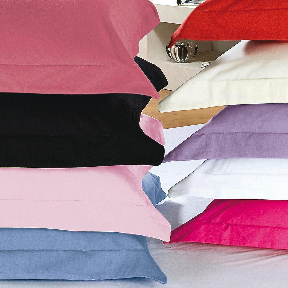 Fronha Avulsa 50cm x 70cm com cores para escolha em Algodão 150 fios com 1 peças - Fronha para Travesseiro Versatille