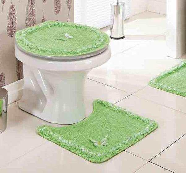 Jogo de Banheiro  Delicato Verde com 3 peças