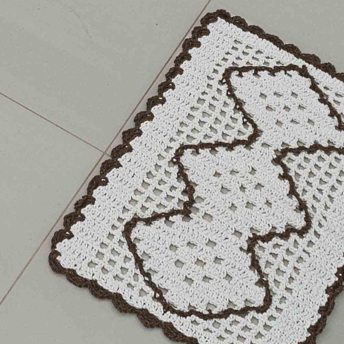 Jogo de Cozinha  Crochê Tabaco com 3 peças