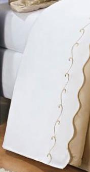 Jogo de Lençol Cama Queen para Cama em Percal 200 fios com 04 peças - Roupa de Cama Isadora