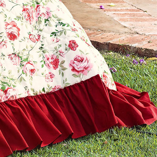 Kit Casal Queen Priori Vermelho com 5 peças em Algodão e Poliéster