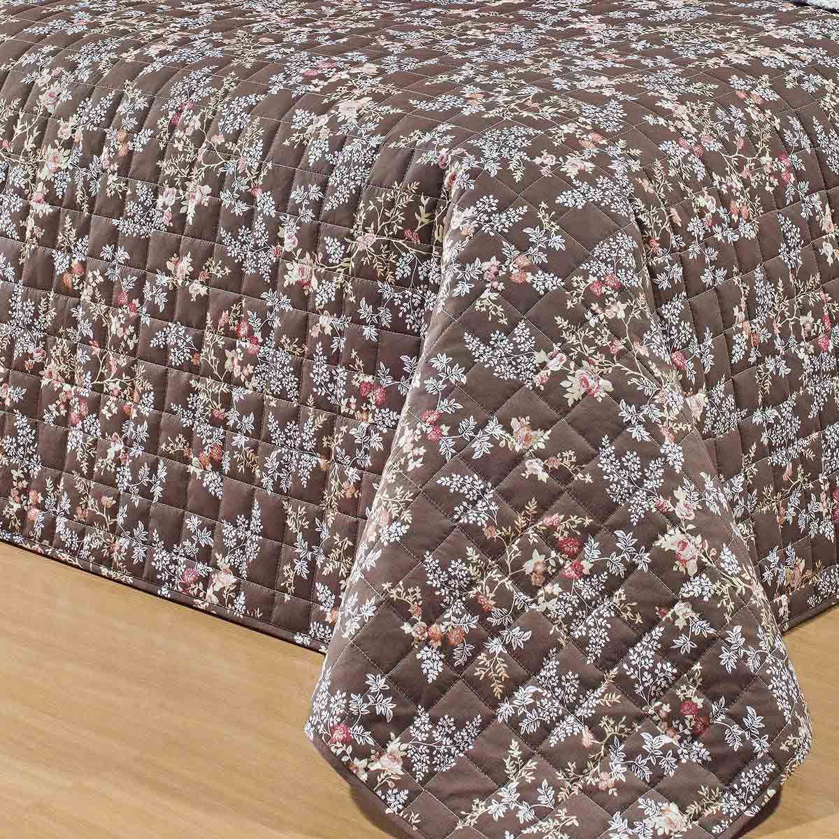 Kit Cobre Leito (Cobre Leito + Lençol) Queen Coleção Nobre Percal 200 Fios Florida com 7 peças