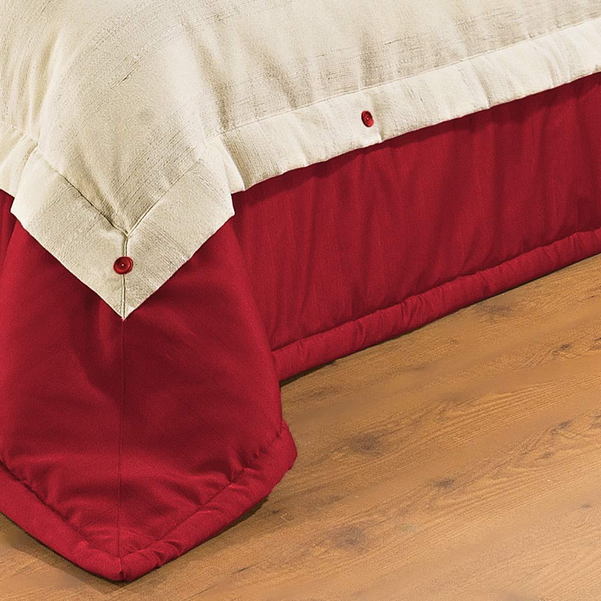 Kit Cobre Leito + Travesseiro Queen Savana Palha com Vermelho em Algodão e Poliéster com 9 peça