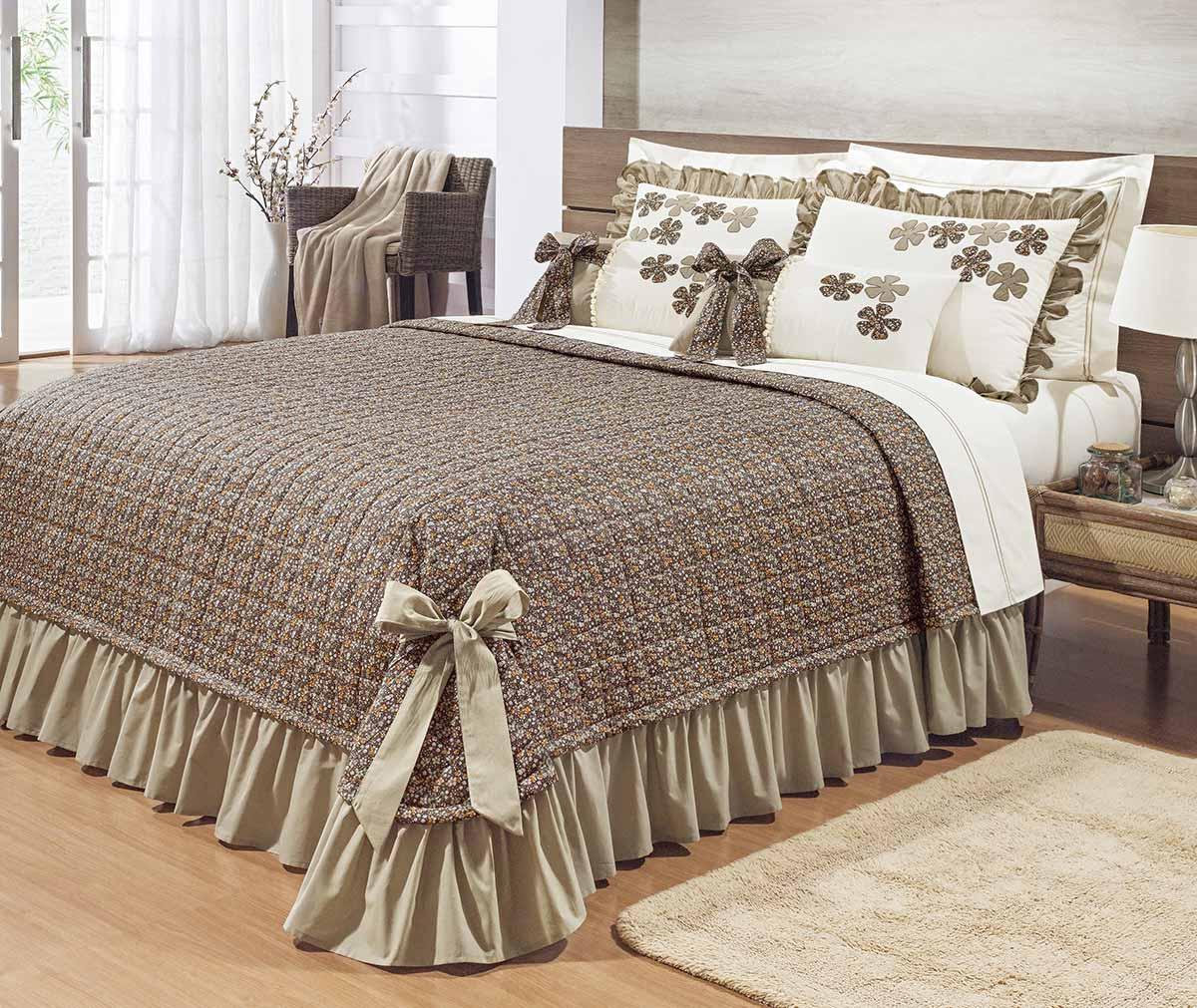 Kit colcha colcha jogo de len ol king kit doce lar 150 fios estampado com 11 pe as casa - Colchas para cama de 150 ...
