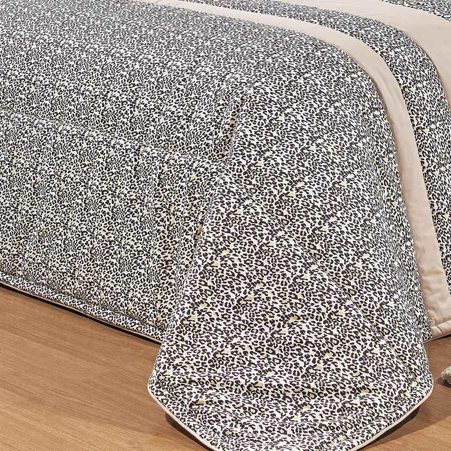 Kit Colcha (Colcha + Jogo de Lençol) Queen Kit Print Percal 200 Fios Estampada com 11 peças