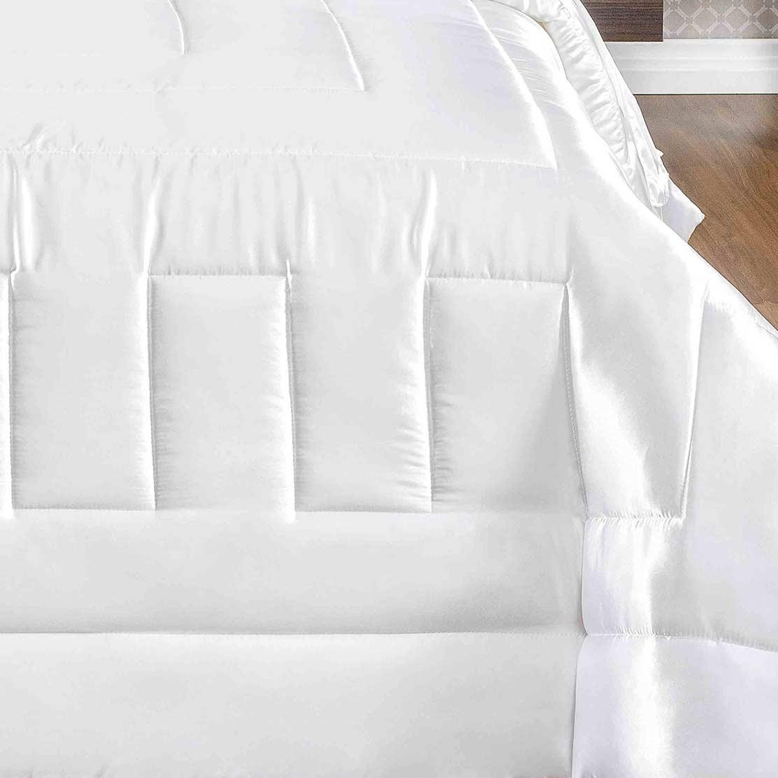 Kit Edredom King Coleção Sublime Branco com 7 peças
