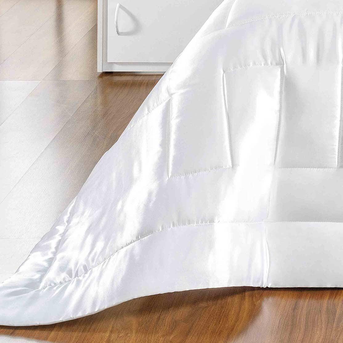 Kit Edredom Queen Coleção Sublime Branco com 7 peças