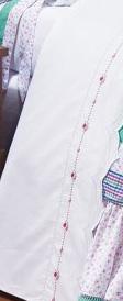 Lençol de Cama Branco Cama Solteiro para Menina com 03 peças - Roupa de Cama Hortela