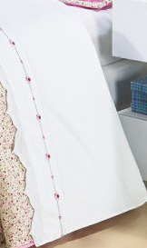 Lençol de Cama Princess com 03 peças em Algodão - Roupa de Cama Solteiro