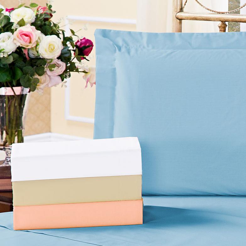 Par Fronhas de Travesseiro Tamanho Único com 1 peças tecido Algodão 180 fios - Fronha para Travesseiro Dia a Dia