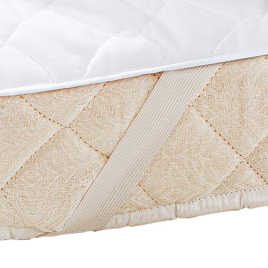Protetor de Colchão 1,30m x 70cm Protetor de Colchão Branco com 1 peças em Algodão e Poliéster