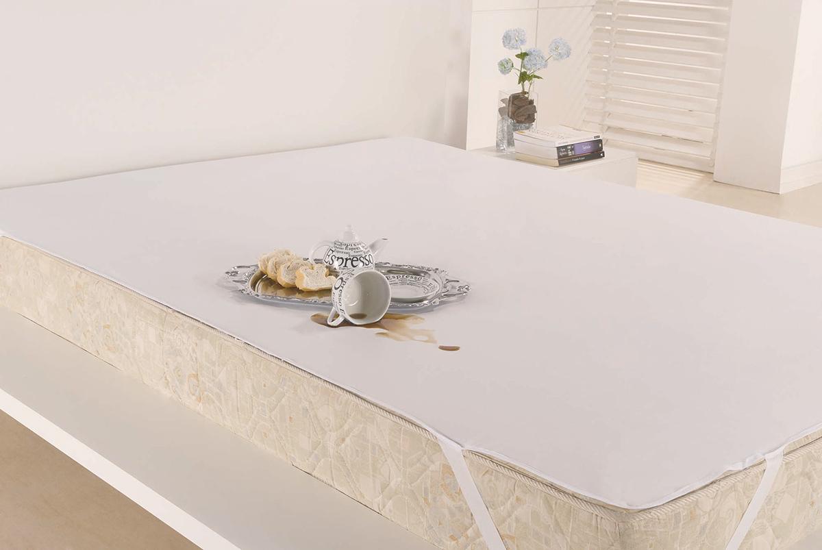 Protetor de Colchão Casal Padrão Protetor de Colchão sem Altura Impermeável  Branco com 1 peças em PVC / Poliéster