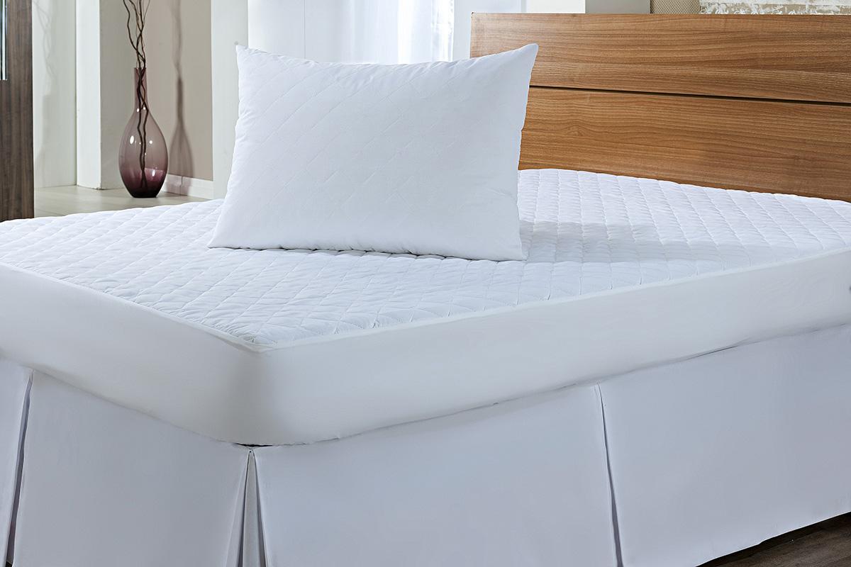 Protetor de Colchão Cama King Size Branco em Microfibra 100% Poliester com 1 peça - Protetor de Colchão Montano