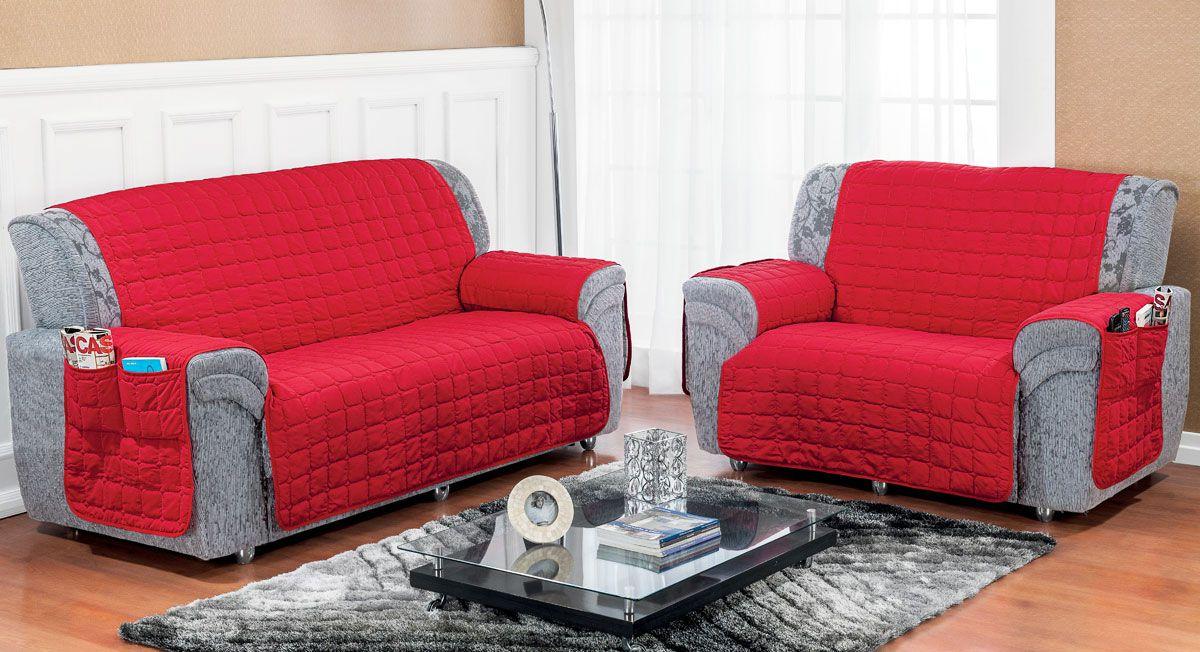 Protetor de Sofá Soft 2 peças - Vermelho