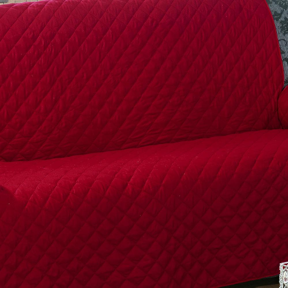 Protetor de Sofá   Vermelho em Algodão e Poliéster com 2 peça
