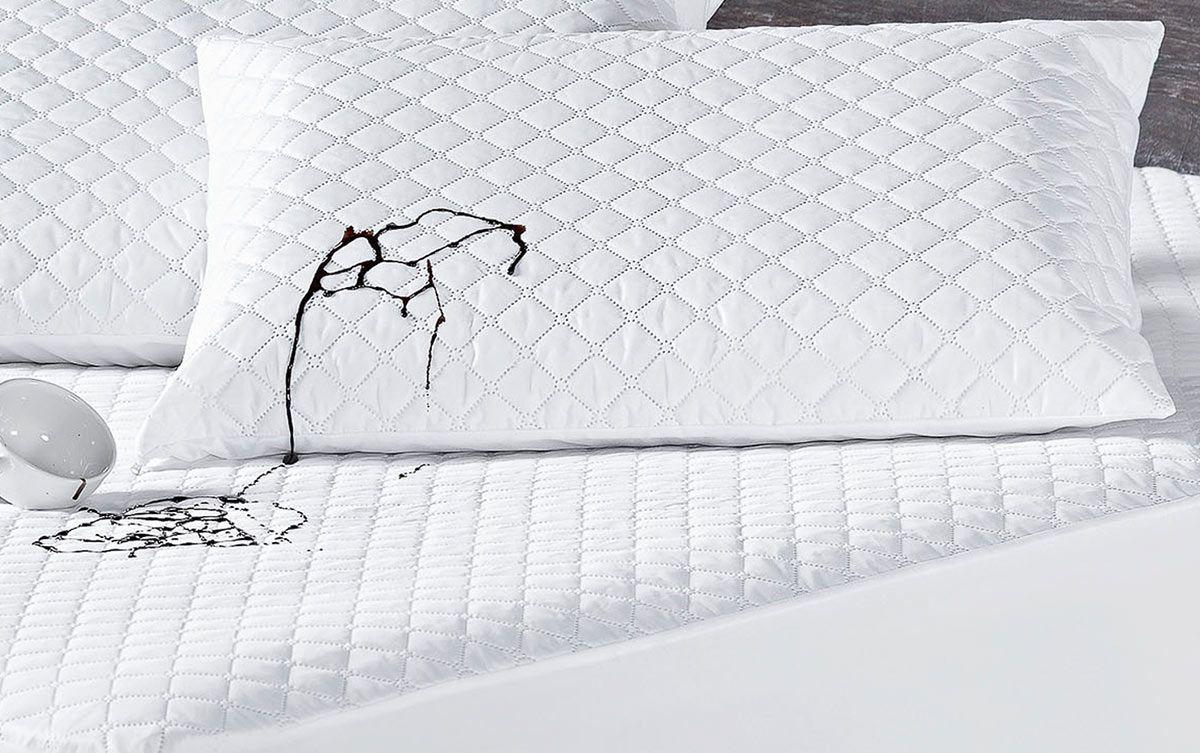 Protetor de Travesseiro Impermeável Branco Matelado mais duravel com 1 peça