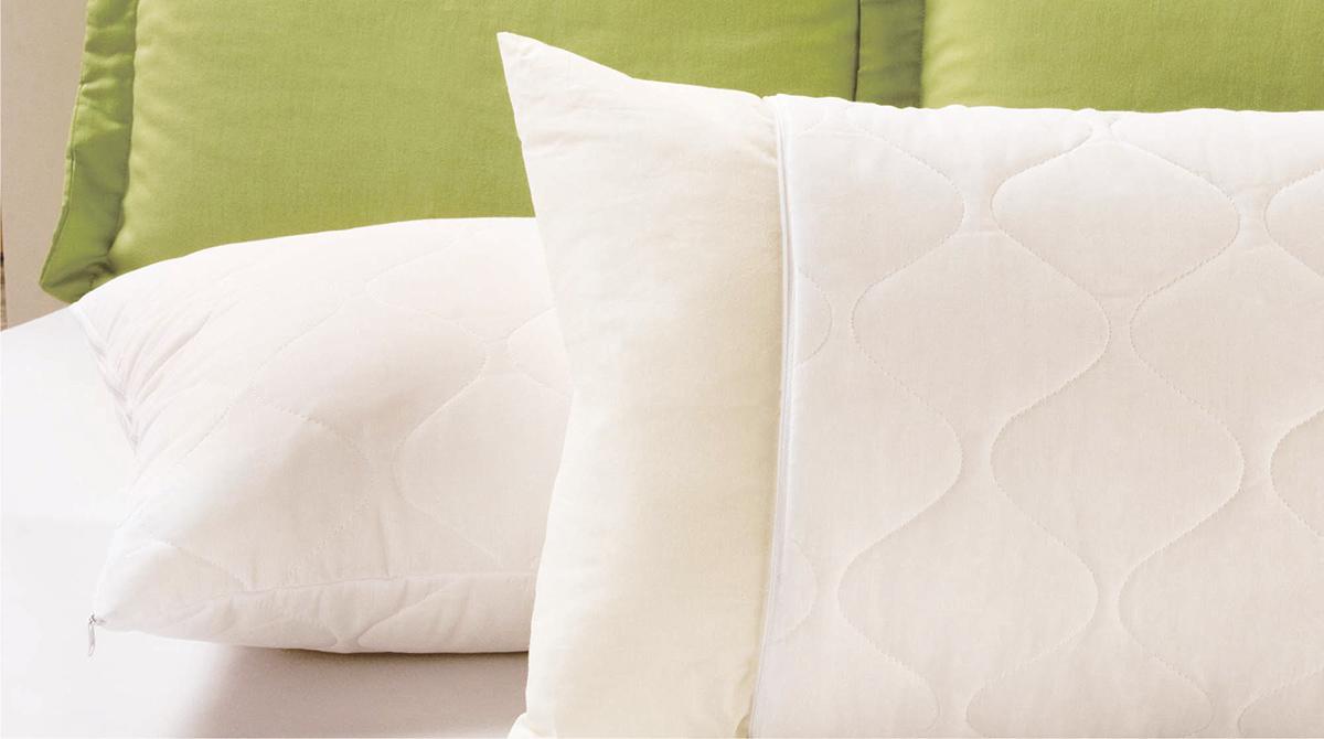Protetor de Travesseiro  Protetor de Travesseiro Matelado  Branco com 1 peças em Algodão / Poliéster