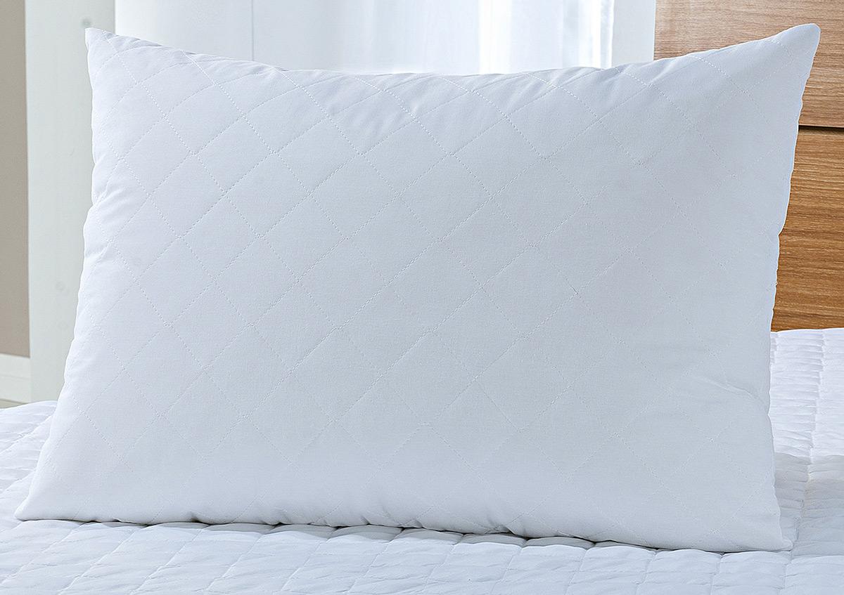Protetor Travesseiro 50cm x 70cm Branco em Microfibra 100% Poliester com 1 peças - Protetor Travesseiro Montano