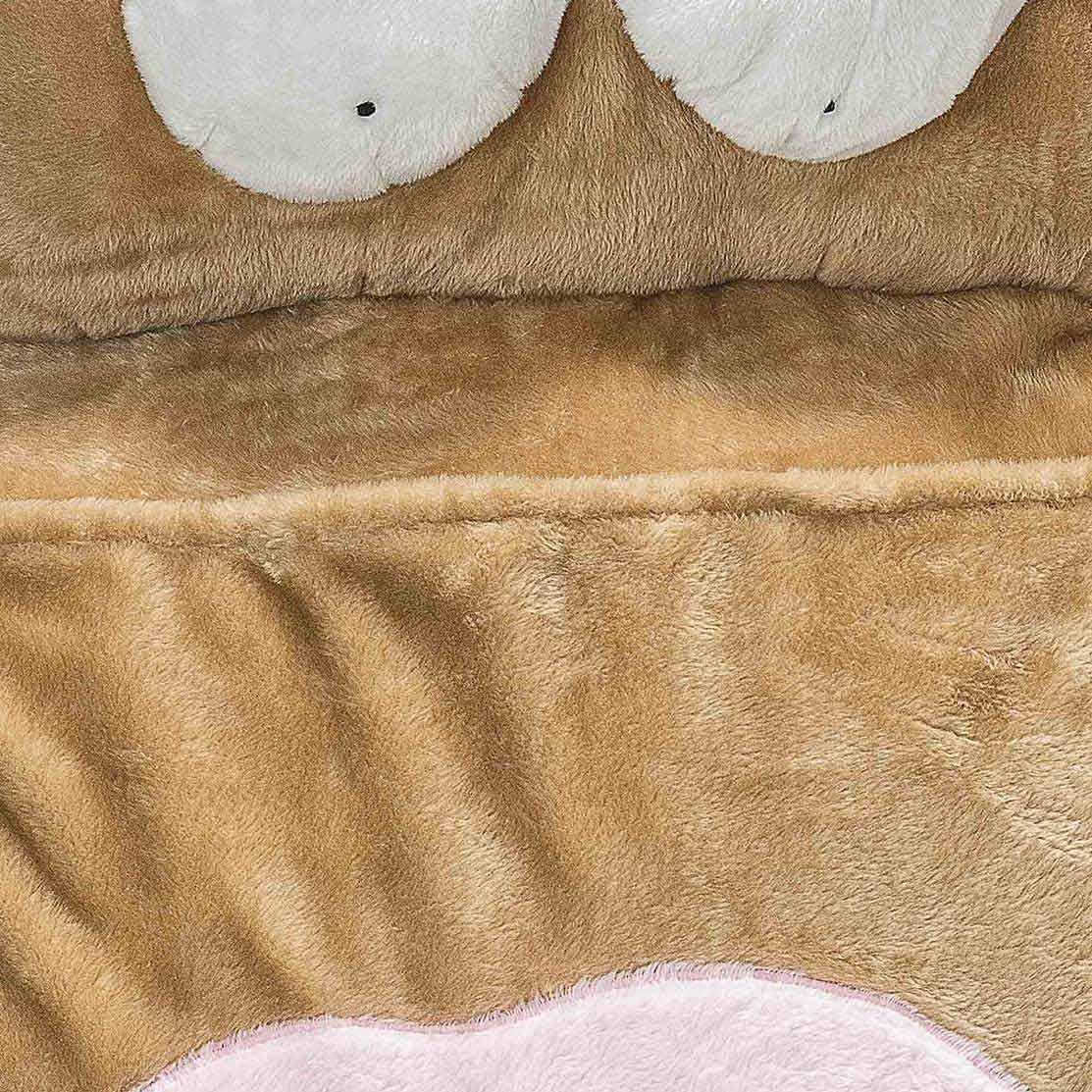 Puff Gigante para Dormir Pelúcia Cachorra Grande com 1 peças