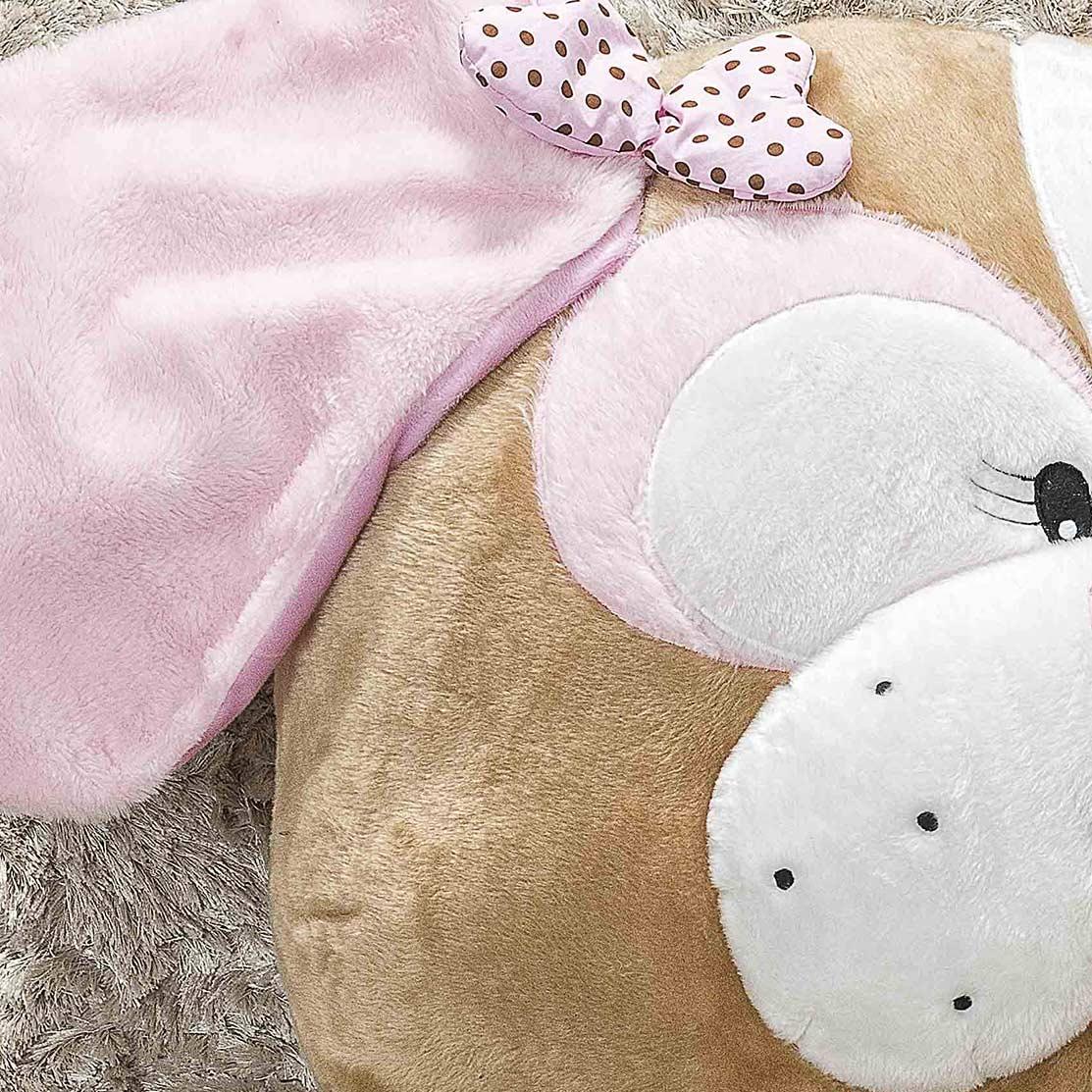 Puff Gigante para Dormir Pelúcia Cachorra Médio com 1 peças