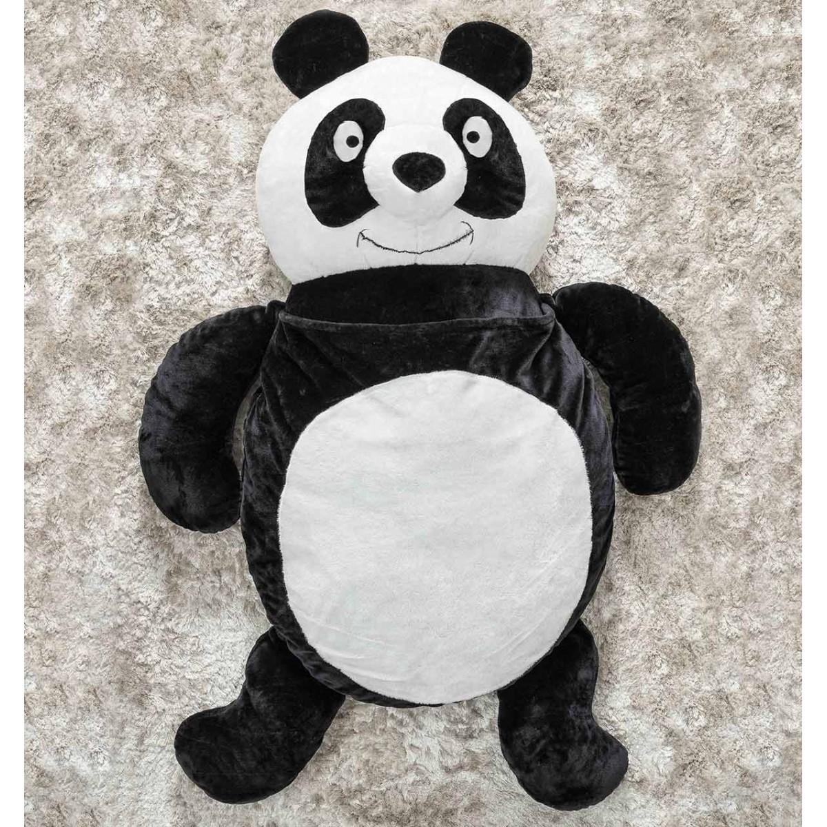 Puff Gigante para Dormir Pelúcia Panda Grande com 1 peças