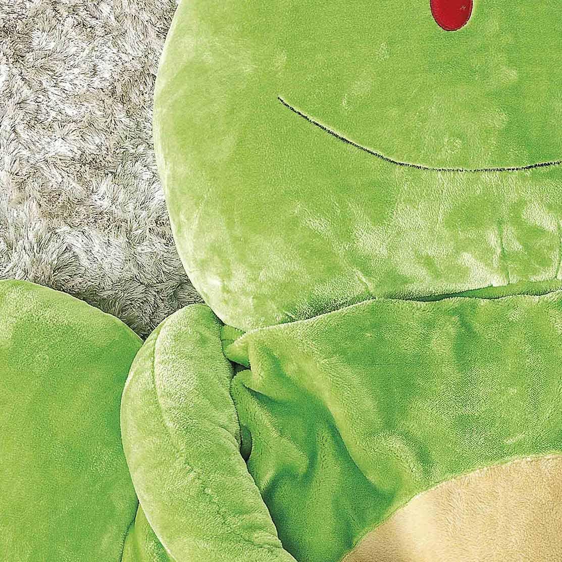 Puff Gigante para Dormir Pelúcia Sapo Grande com 1 peças