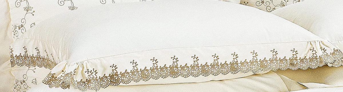 Roupa de Cama / Lençol Capri Queen em Fio Egipicio Percal 400 fios cor Palha Caqui com 4 peças