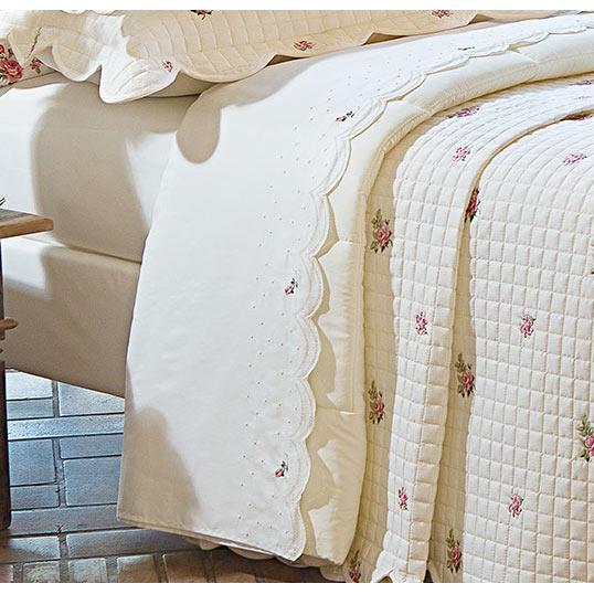 Roupa de Cama / Lençol Essenza King em Percal Algodão 230 fios - Acetinado cor Palha e Flores com 4 peças