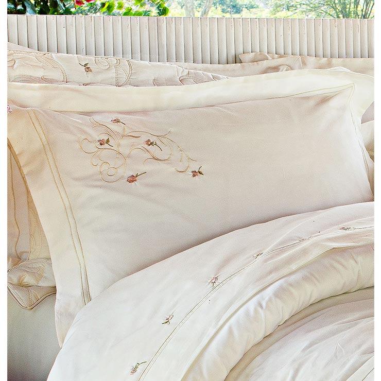 Roupa de Cama / Lençol Giardini King em Percal Algodão 230 fios - Acetinado cor Palha com 4 peças