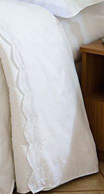 Roupa de Cama / Lençol Giornata Queen em Percal Algodão 230 fios - Acetinado cor Branco com 4 peças