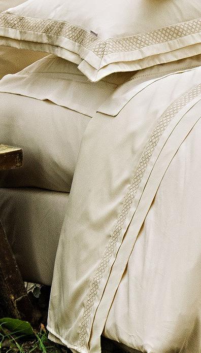 Roupa de Cama / Lençol Sempione King em Seda Pura 100% Seda natural - Sedoso cor Champagne com 4 peças