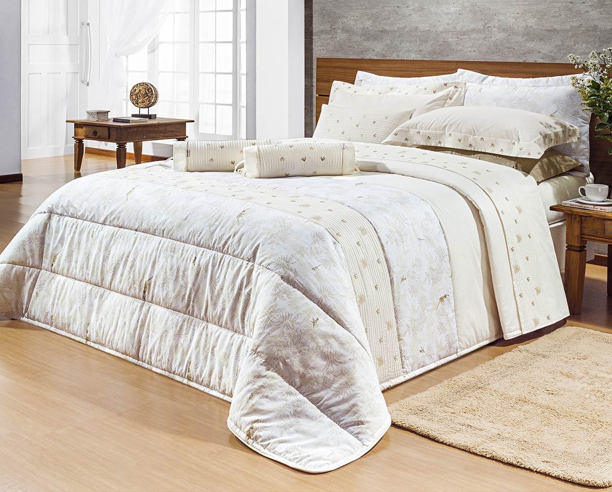 Roupa de cama queen cole o botanic percal 200 fios liso c for Tipos de camas queen