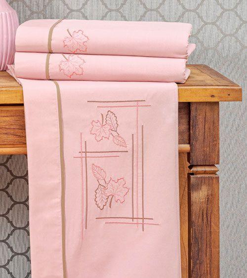 Roupa de Cama Queen Outono 4 peças - Rosê
