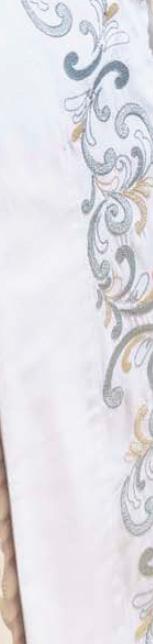 Roupa / Lençol de Cama King Branca com detalhe verde Percal 200 fios com 4 peças - Jogo de Lençol Verbena