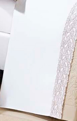Roupa / Lençol de Cama Queen Percal 200 fios com 4 peças - Jogo de Lençol Beauty