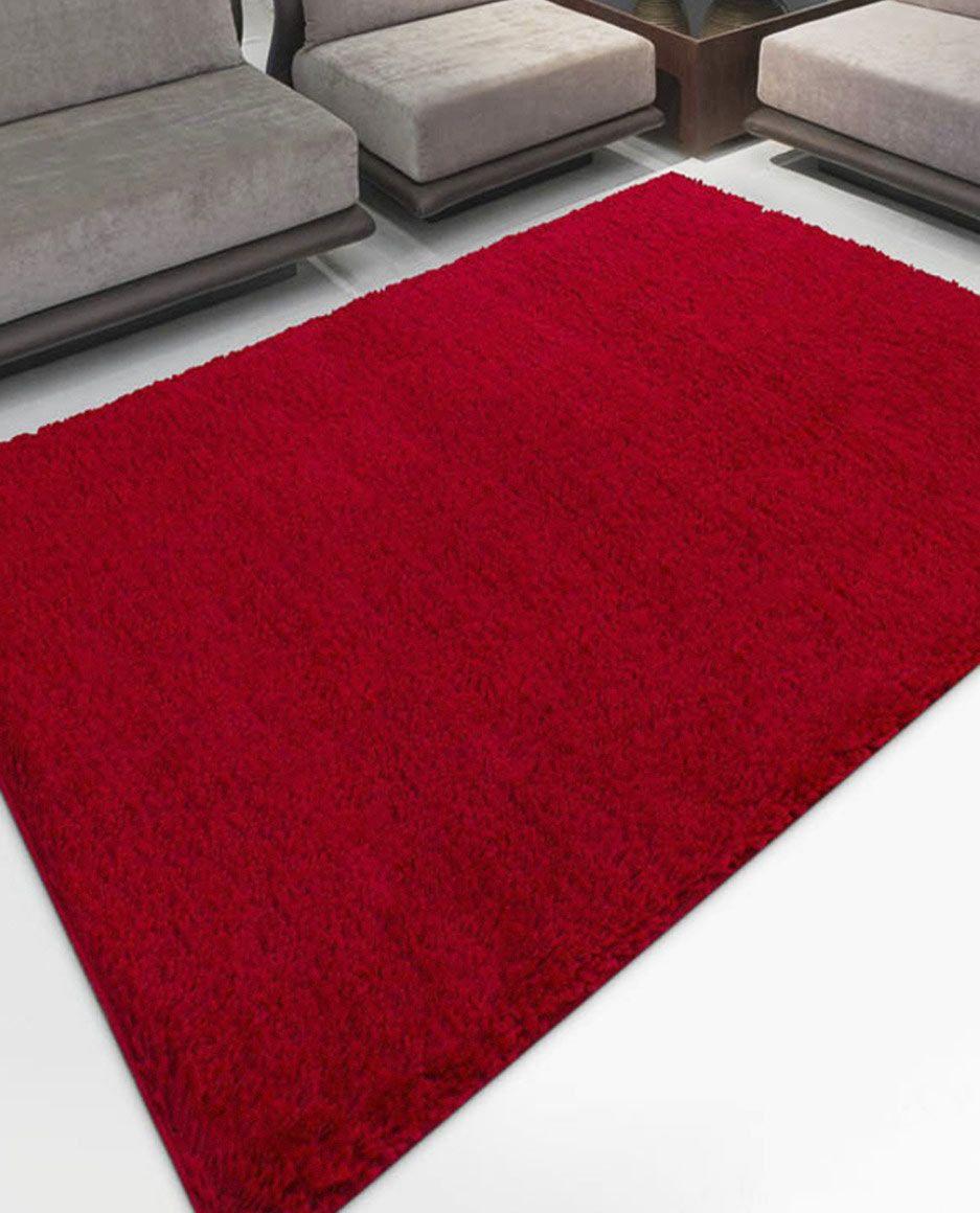 Tapete Encanto 1,5 Metros Sala cor Vermelho com 1 peça