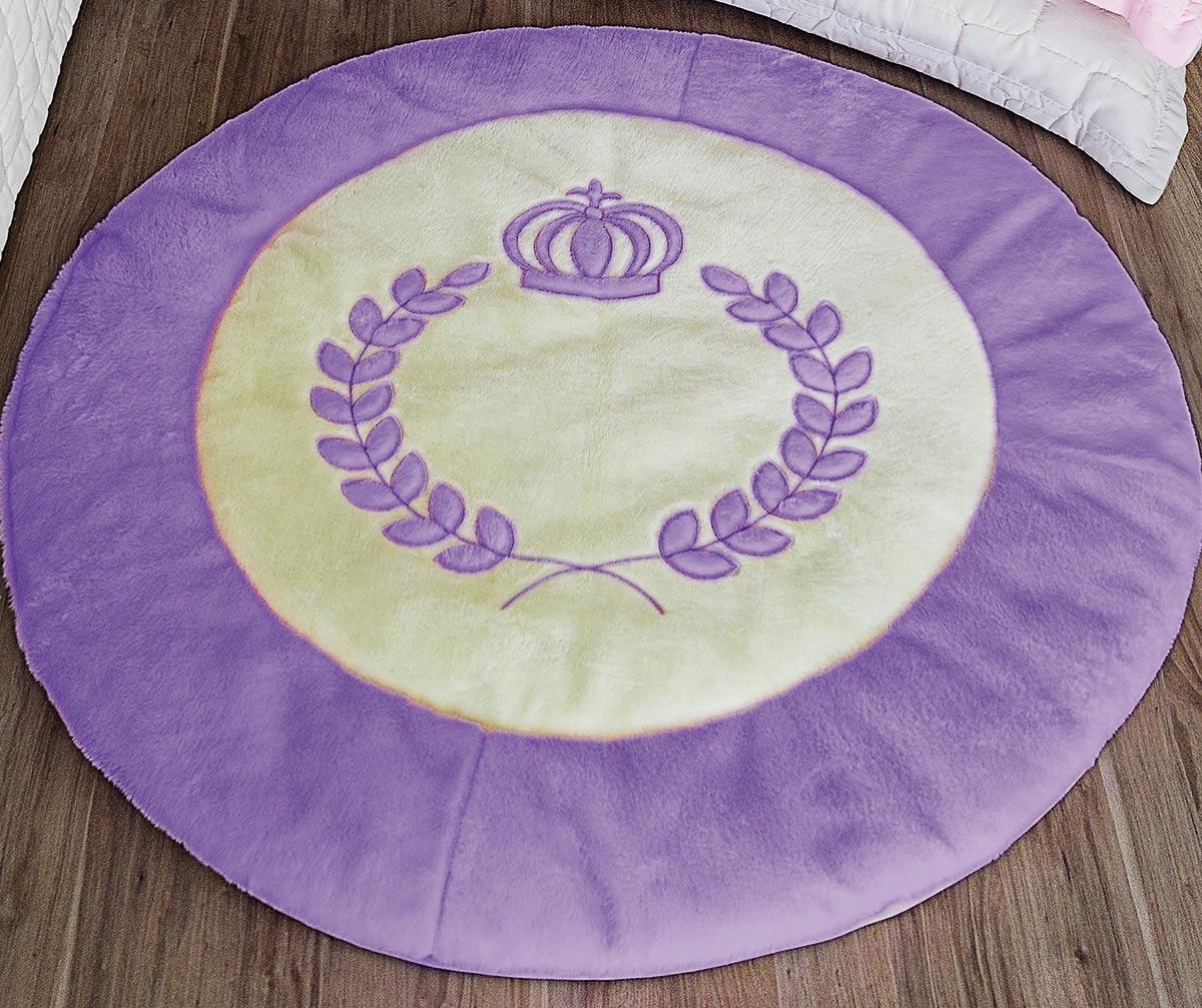 Tapete Infantil Mágico Circulo de Coroa Lilás Circulo de Coroa Lilás com 1 peças